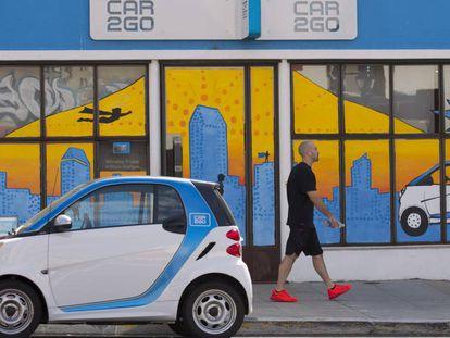 Imagen de la sede de Car2Go en San Diego, California.