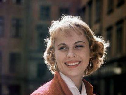 La actriz sueca Bibi Andersson, en 1963.