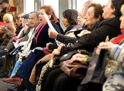 Sala de espera de un centro de asistencia primaria el pasado febrero.