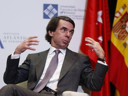 El expresidente José María Aznar, en un acto público celebrado el pasado enero.