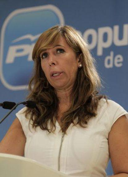 La presidenta del PP en Cataluña Alicia Sánchez-Camacho.