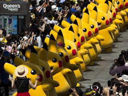 Desfile de personajes de la franquicia 'Pokemon' (una de las más rentables del mundo) en Yokohama (Japón).