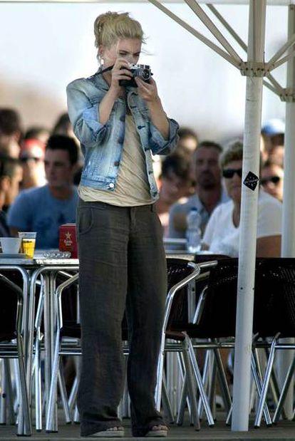 Johansson, en el rodaje de <i>Vicky Cristina Barcelona. </i>