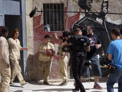 Imagen del rodaje de la serie 'Sin identidad'