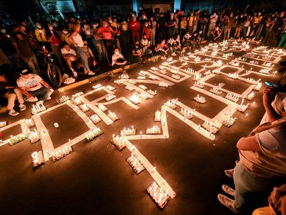 Una vigilia en Cali en honor a los manifestantes que murieron durante las protestas contra el Gobierno de Iván Duque.