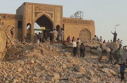 La mezquita en honor al profeta Yunus (Jonás) en Mosul, destruida en julio por terroristas del Estado Islámico.