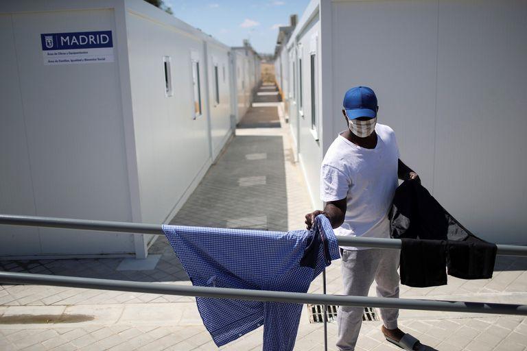 Imagen de un centro de acogida para solicitantes de asilo habilitado por del Ayuntamiento de Madrid.