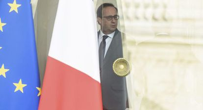 François Hollande, tras el Consejo de Ministros.