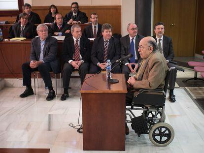 Fèlix Millet durante el juicio del 'caso Palau', en 2014.