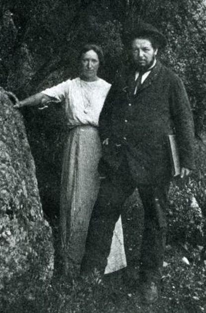 Angelina Beloff y Diego Rivera, en Brujas en 1909, el año en que se conocieron.