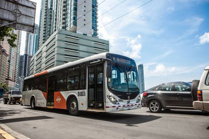 Un autobús en Ciudad de Panamá.
