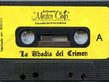 Casete de La Abadía del Crimen para MSX