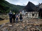 Destrucción causada por las inundaciones del río Ahr en la aldea de Eifel de Schuld, en el oeste de Alemania este jueves.