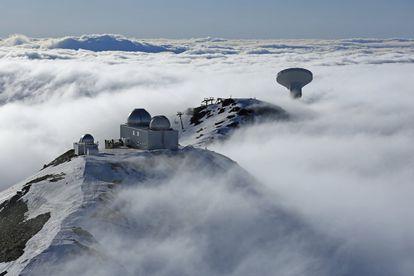 Radiotelescopio en el Pico Veleta (Granada).