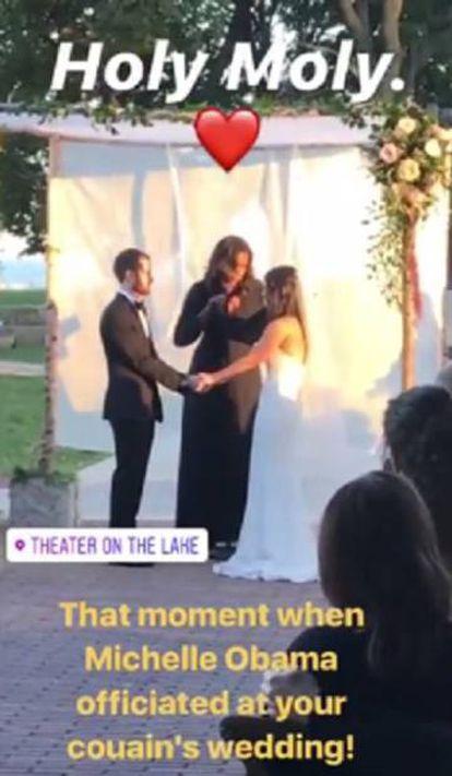 Michelle Obama oficializando la boda.