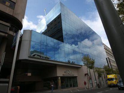 Edificio de Caja Duero en la calle Marqués de Villamagna.