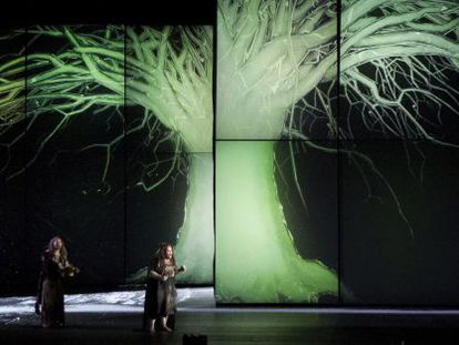 Ensayo de la ópera de Wagner 'Die Walküre' en el Palau de les Arts.