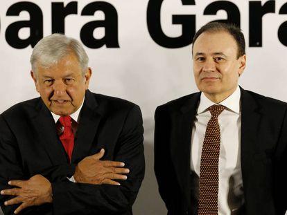 Andres Manuel Lopez Obrador y Alfonso Durazo, este jueves.