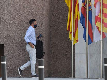 Bartomeu, llega a las oficinas del Barcelona en el Camp Nou.