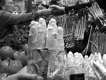 Frutas y verduras en el mercado de la Boquería.