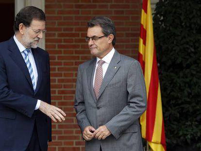 Mariano Rajoy y Artur Mas, en septiembre de 2012.