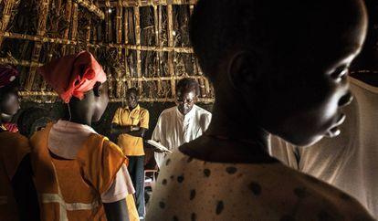 Cada sábado, los habitantes de Hat, en el estado de Junqali –una zona controlada por los rebeldes y habitada por unas 9.500 personas– van a misa. Muchos de ellos son cristianos.