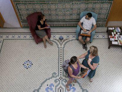 Una de las salas del espacio de 'coworking' La Solana en Torrelodones.