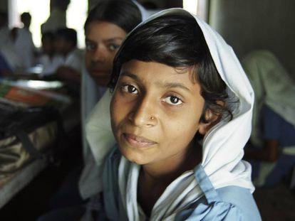 Una mujer de Gazipur, Bangladés.
