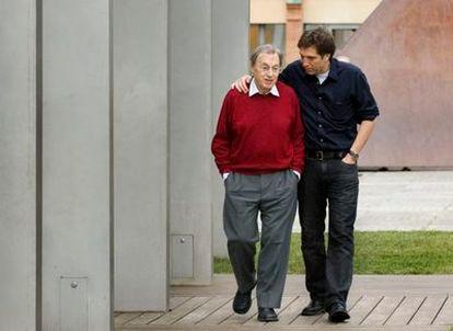 Jordi Solé Tura y su hijo Albert.