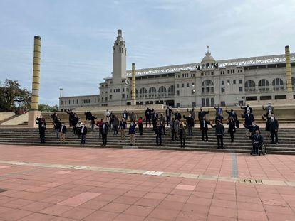 Presentación de Sport Tech junto al Estadio Olímpico de Montjuïc