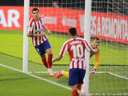 Morata celebra su gol contra el Celta.