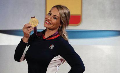 Lydia Valentín, con el oro de los Juegos de 2012.