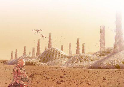 Recreación de las tecnologías utilizadas para la vida en Marte.