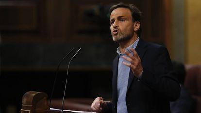 Jaume Asens, durante la sesión de investidura.