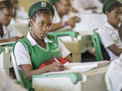Una clase en el instituto público de Kwali.