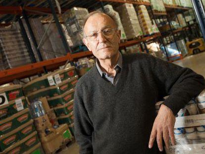 Jordi Peix, en un almacén del Banco de los Alimentos.