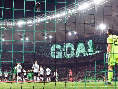 Nigeria celebra el primer gol ante la selección de Argentina en el estadio ruso de Krasnodar.