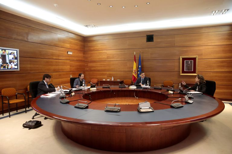 Reunión del Consejo de Ministros, este martes en La Moncloa.