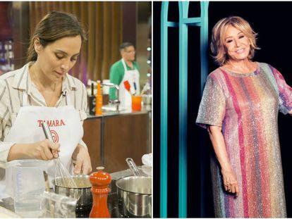 Tamara Falcó en 'MasterChef Celebrity' y Mila Ximénez en su posado oficial para 'GH VIP'. En vídeo, una promoción del programa de TVE.