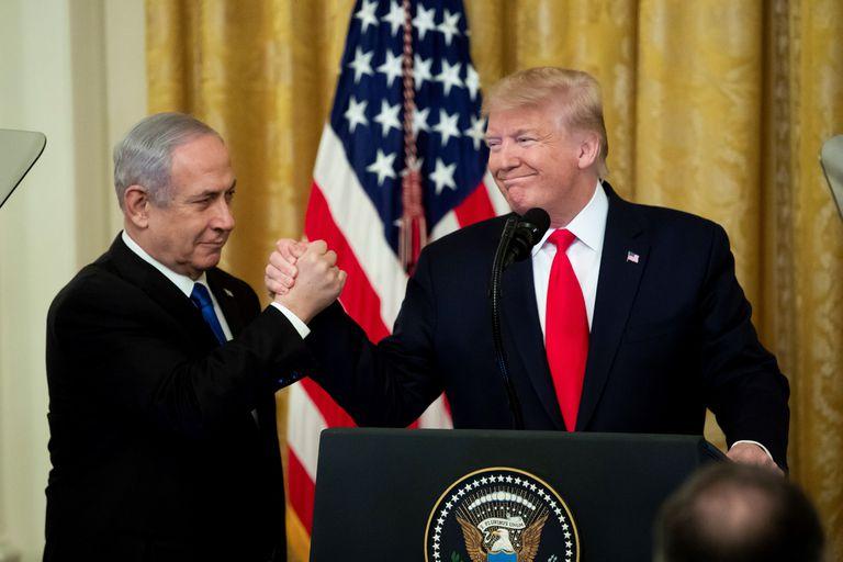 Donald Trump y  Benjamin Netanyahu en la Casa Blanca el pasado mes de enero.