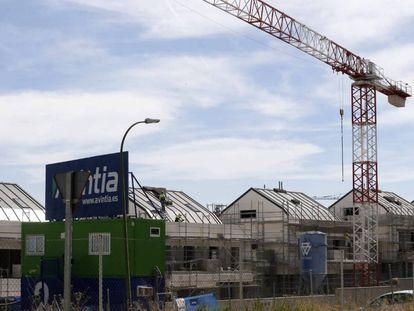 Viviendas en construcción en Madrid, en una imagen de archivo.