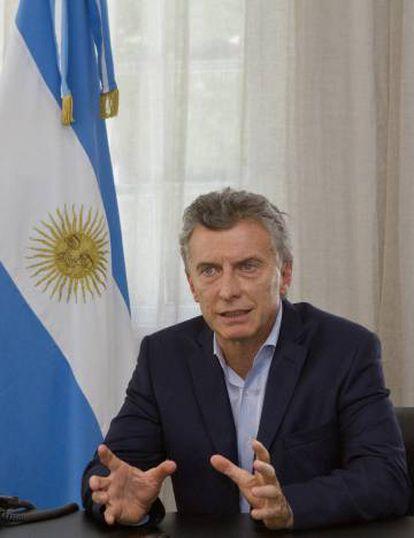 El presidente Macri comparece ante la prensa española en Olivos.