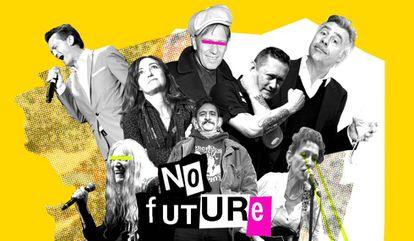 Dijeron que no había futuro, pero se ha demostrado que sí. También para el que nos mira desde el centro de la imagen, Evaristo, de La Polla Records.