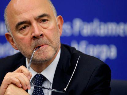 Pierre Moscovici, este martes en Estrasburgo.
