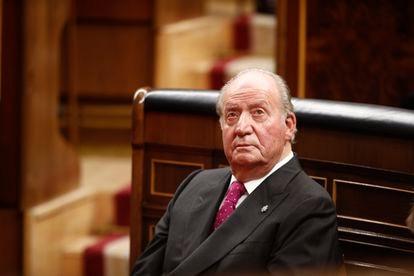El rey emérito Juan Carlos I en el Congreso, el 6 de diciembre de 2018.