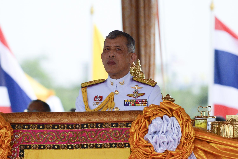El rey de Tailanda en un acto público en Bangkok en mayo de 2019.