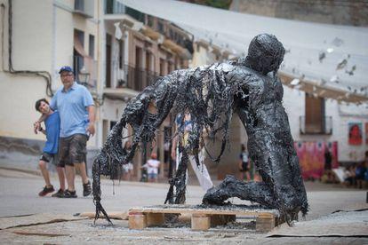 Instalación artística en Fanzara.