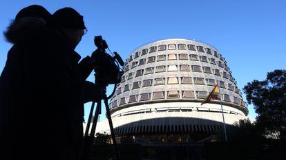 Fachada del Tribunal Constitucional en Madrid.
