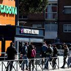 28/03/20. (DVD 994). Colas a la entrada de un supermercado en Madrid durante la pandemia de coronavirus Jaime Villanueva.