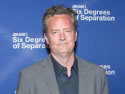 El actor Matthew Perry, en abril de 2017 en un estreno en Nueva York.